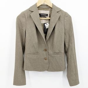 New Club Monaco Pin Stripe Tex Two Button Blazer 0
